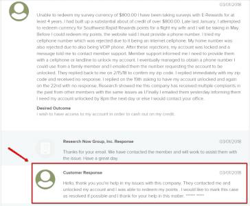 e-rewards response